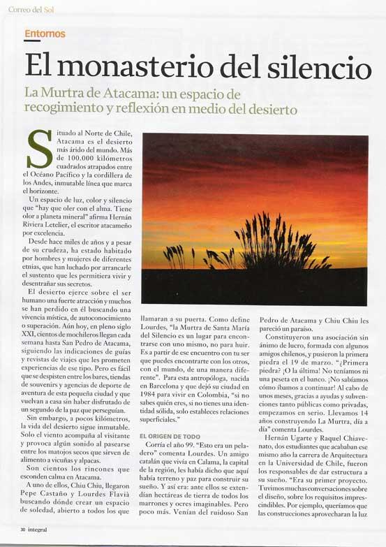 Reportaje en la Revista Integral