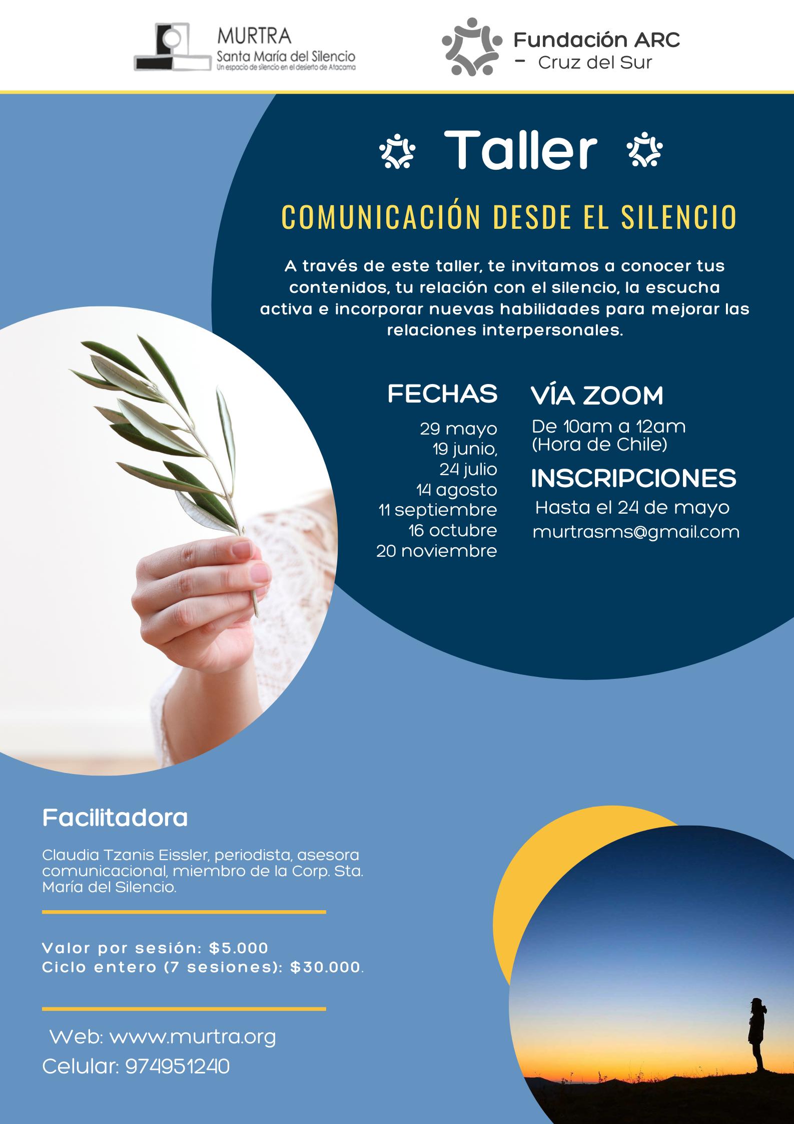 "TALLER ""COMUNICACIÓN DESDE EL SILENCIO"""